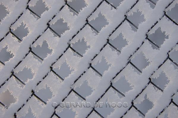 sneeuw in gaas